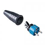 521 schuko stekker 230V volrubber met blauwe kop