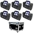 Juno wireless battery-powered RGBW wallwasher, 6x + flightcase