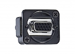 EHHD 15 FFB VGA chassisdeel doorvoer zwart