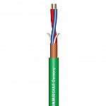 Stage 22 Highflex microfoonkabel 2x0,22mm groen, knip p/m