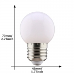 E27 led lamp 1W koud wit