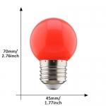 E27 led lamp 1W rood