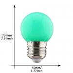 E27 led lamp 1W groen