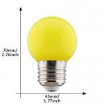 E27 led lamp 1W geel