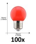 E27 led lamp 1W rood grootverpakking
