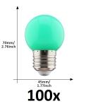 E27 led lamp 1W groen grootverpakking
