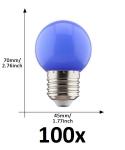 E27 led lamp 1W blauw grootverpakking