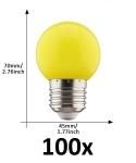 E27 led lamp 1W geel grootverpakking