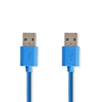 USB 3.2 kabel A-male naar A-male - 1m
