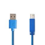 USB 3.2 kabel A-male naar B-male - 2m