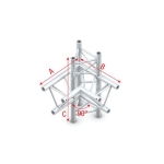 Pro 30 driehoektruss 90 graden 4-weg up/down links