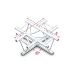 Pro 30 driehoektruss 90 graden 4-weg horizontaal