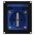 CASY285G/B schuko module voor CASY-chassis
