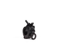 Halfcoupler 48-51mm WLL 200kg voorzien van hijsoog zwart