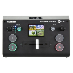 Mini videomixer 4-kanaals incl. multiview, scalers en USB-streaming